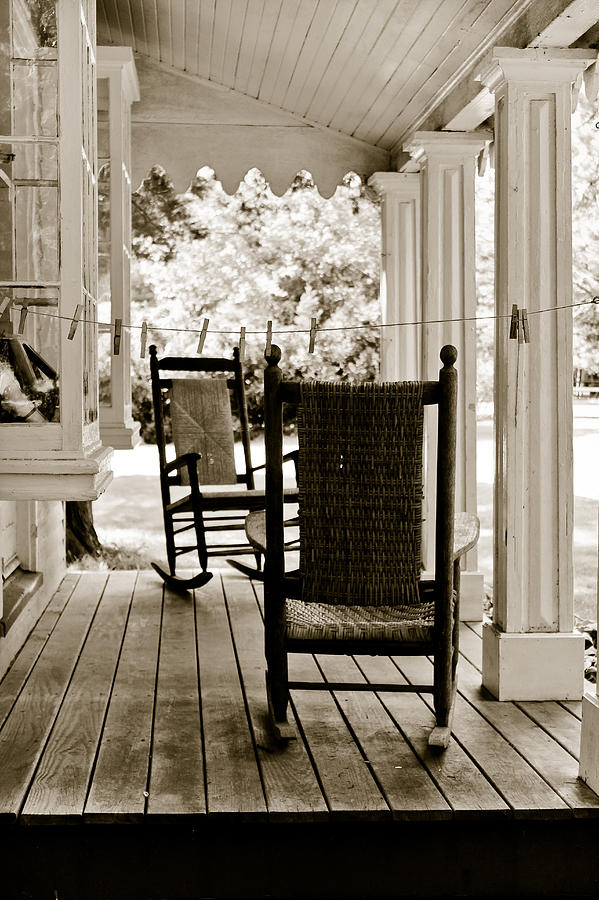 Rocking Chairs Photograph - Two Vintage Rockers by Colleen Kammerer