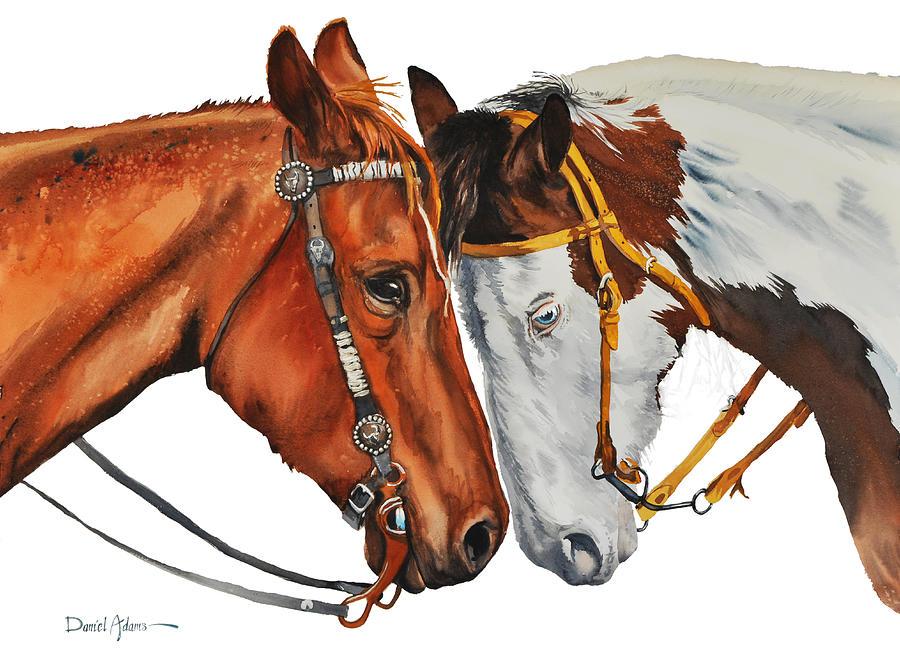 Horse Painting -  Da160 Twogetherness Daniel Adams by Daniel Adams