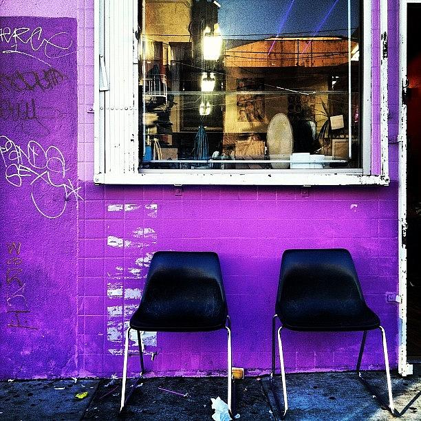 Purple Photograph - Twos Company by Courtney Haile