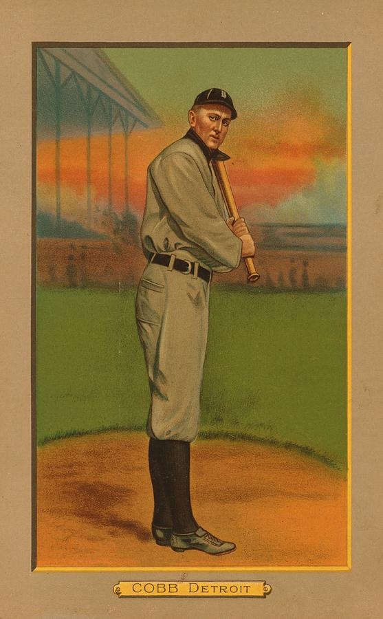 Detroit Tigers Painting - Ty Cobb Circa 1911 by George Pedro
