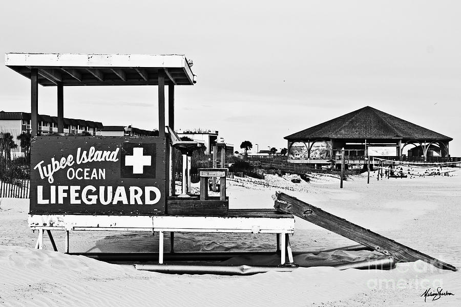 Tybee Island Lifeguard Stand by Melissa Sherbon