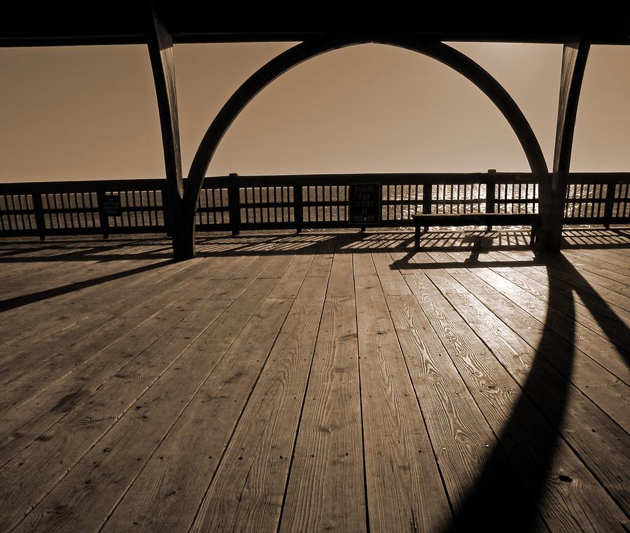Tybee Island Pier Photograph - Tybee Island Pier by Steven  Michael