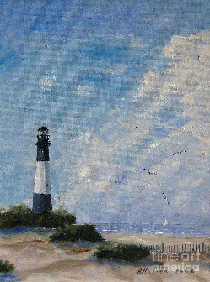 Savannah Painting - Tybee Light by Stanton Allaben