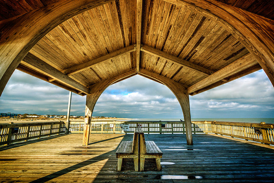 Tybee Pier Bench by Robert Fowler