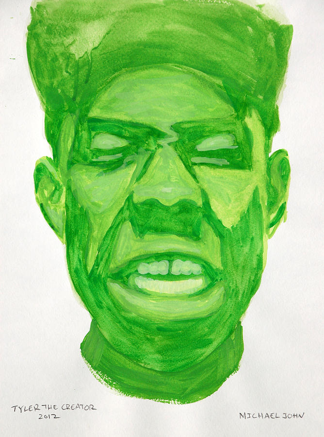 Music Painting - Tyler The Creator by Michael Ringwalt