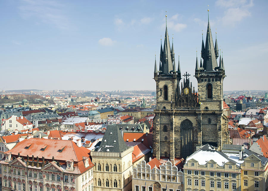 Tyn Church In Prague Old Town Square Photograph by Uygargeographic