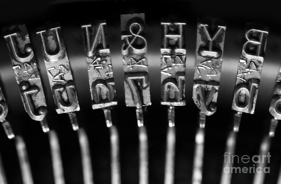 Typewriter Photograph - Type Castings by Dan Holm