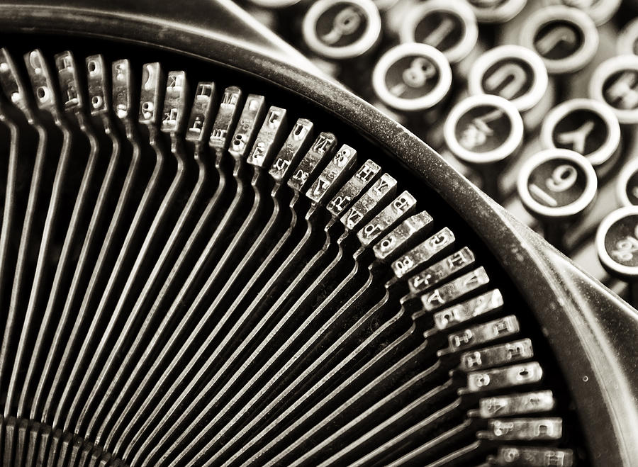 Abstracts Photograph - Typewriter One by John Nelson