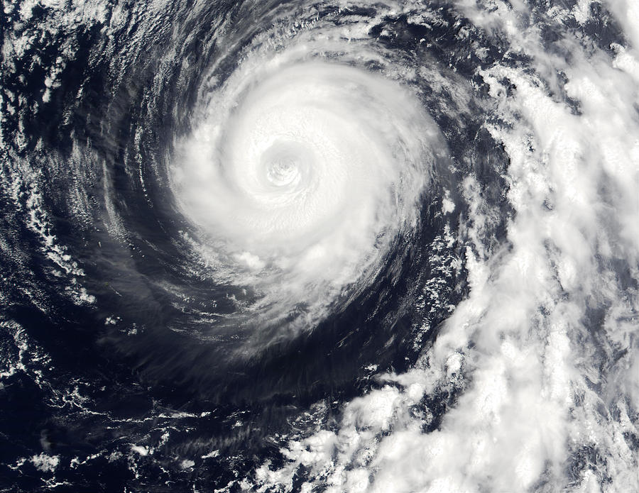 Cyclone Photograph - Typhoon 12w by Nasa/science Photo Library