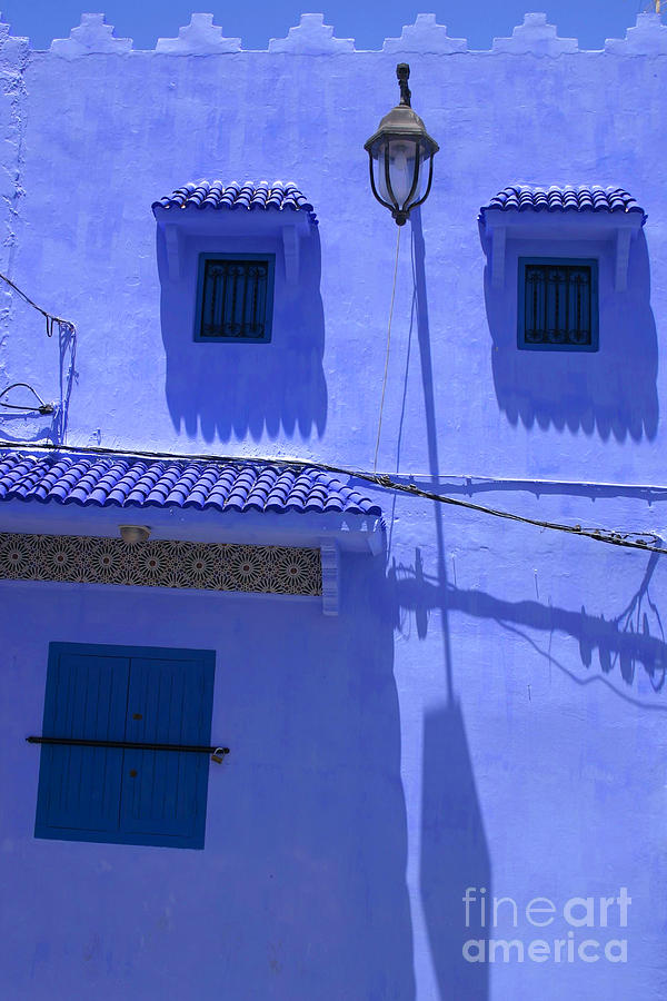 Asilah Photograph - Typical Blue Facade In The Medina Of Asilah On Northwest Tip Of Atlantic Coast Of Morocco by PIXELS  XPOSED Ralph A Ledergerber Photography