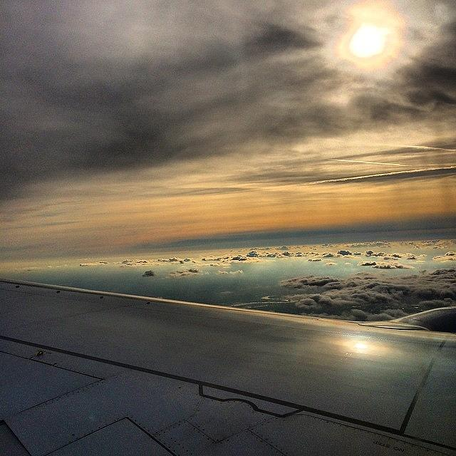 Clouds Photograph - Typical On The Plane Picture #klm #ams by Frankie Melvin