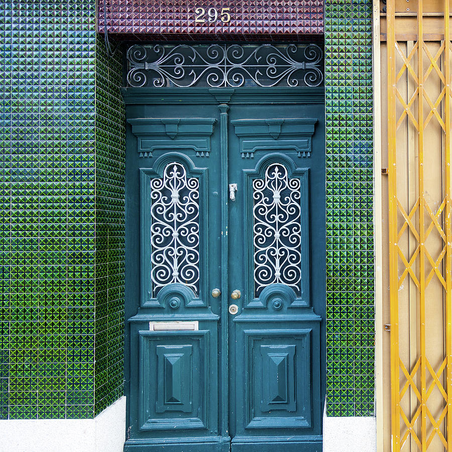 Typical Portugal Doors In Oporto Old Photograph by Leopatrizi
