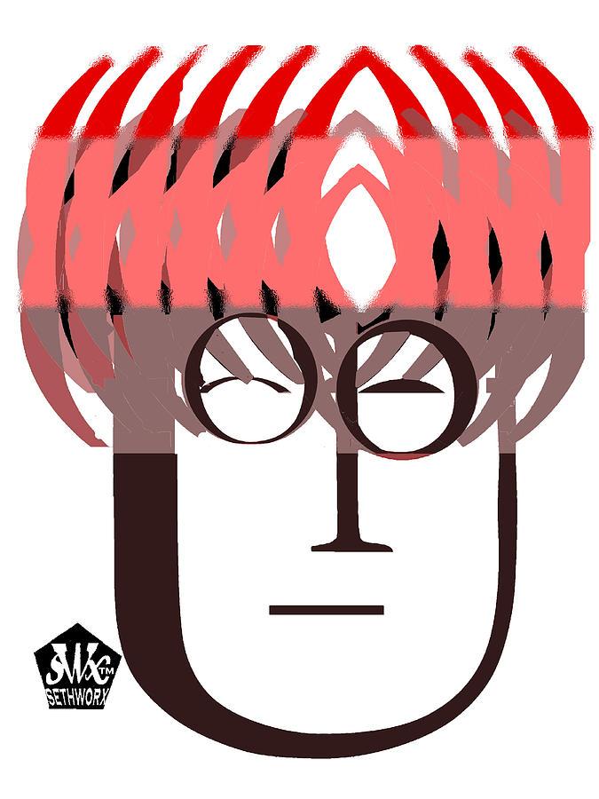 Typortraiture John Lennon Digital Art - Typortraiture John Lennon by Seth Weaver