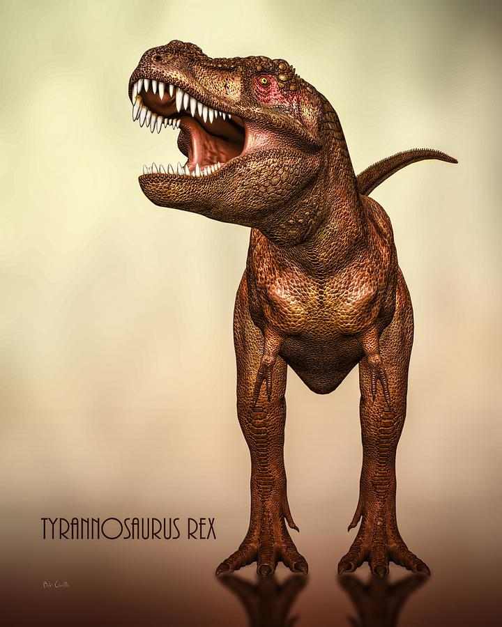 Dinosaurs Digital Art - Tyrannosaurus Rex 2 by Bob Orsillo