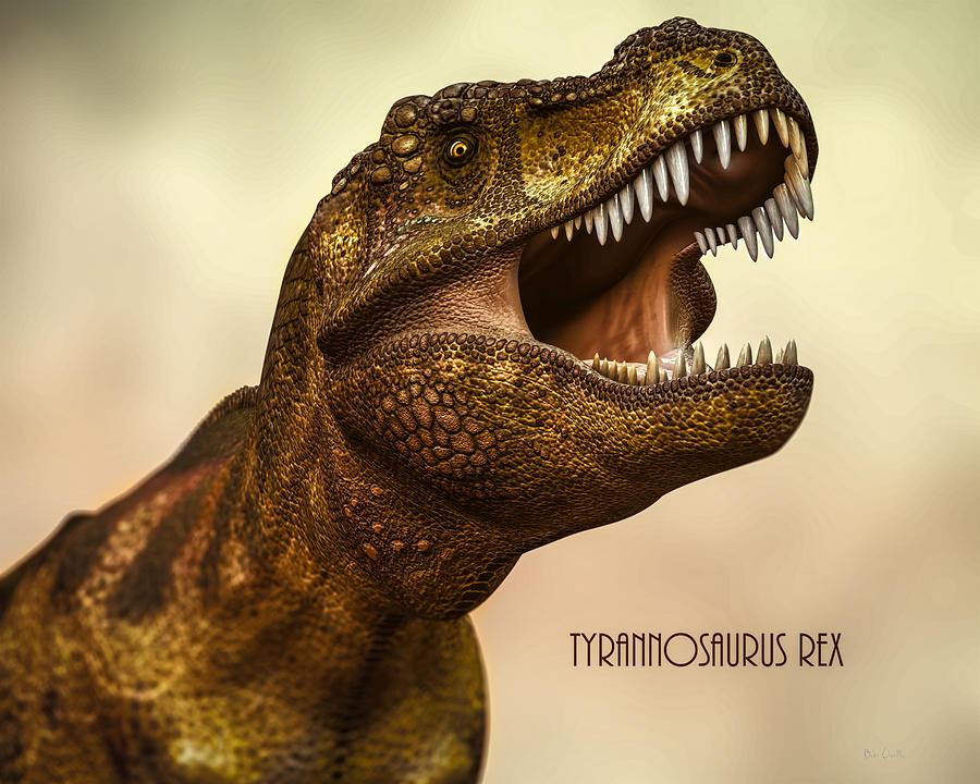 Animal Digital Art - Tyrannosaurus Rex 3 by Bob Orsillo
