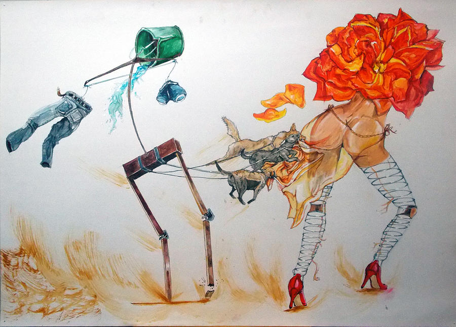 Surrealism Painting - Tyrants Of Desire by Lazaro Hurtado