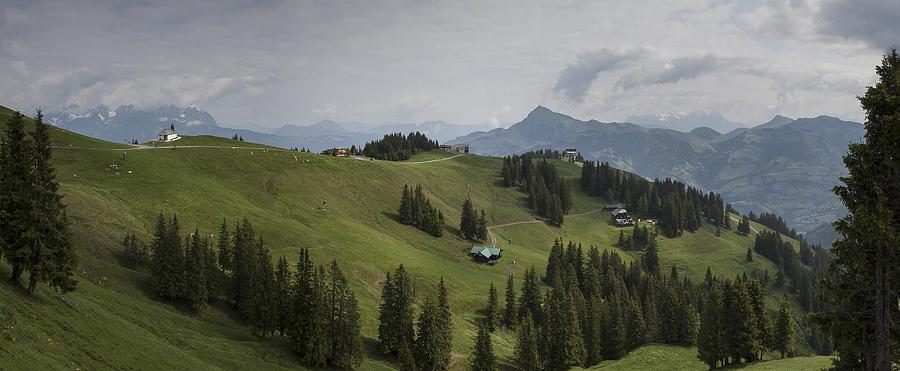 Alpine Photograph - Tyrolean Panorama by Nigel Jones