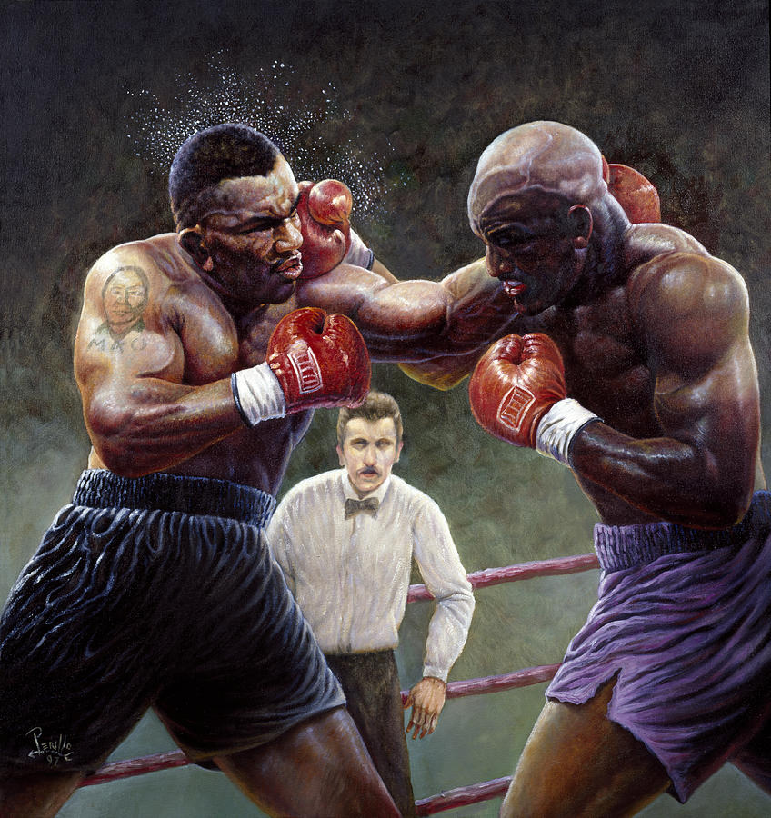 Mike Tyson Painting - Tyson/holyfield by Gregory Perillo