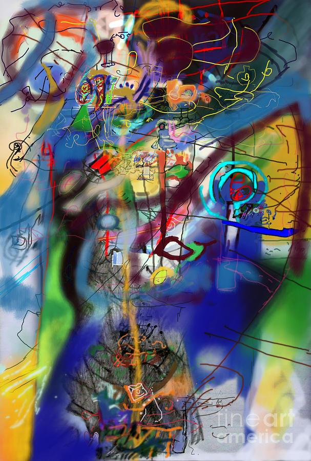 Torah Digital Art - Tzadik 6h by David Baruch Wolk
