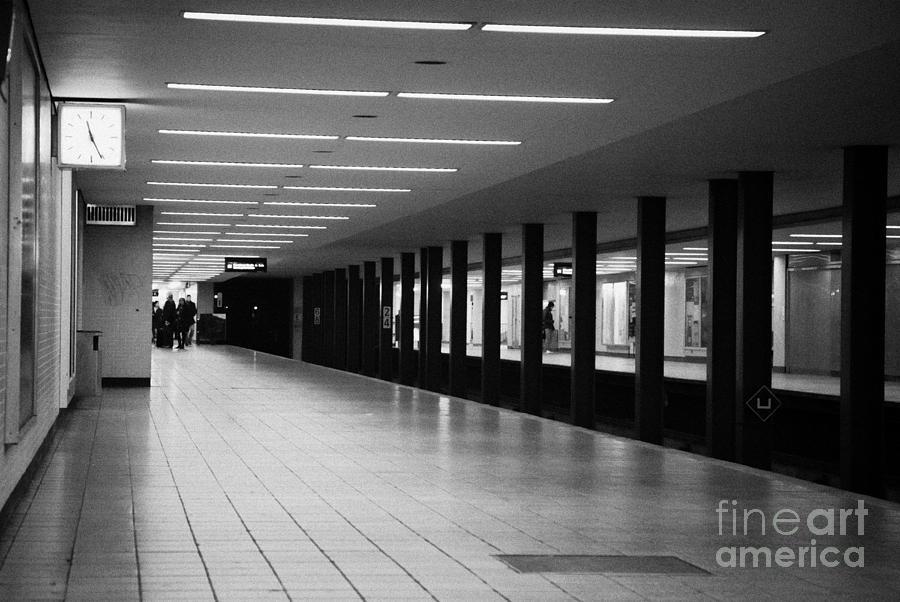 Berlin Photograph - u-bahn platform and station Berlin Germany by Joe Fox