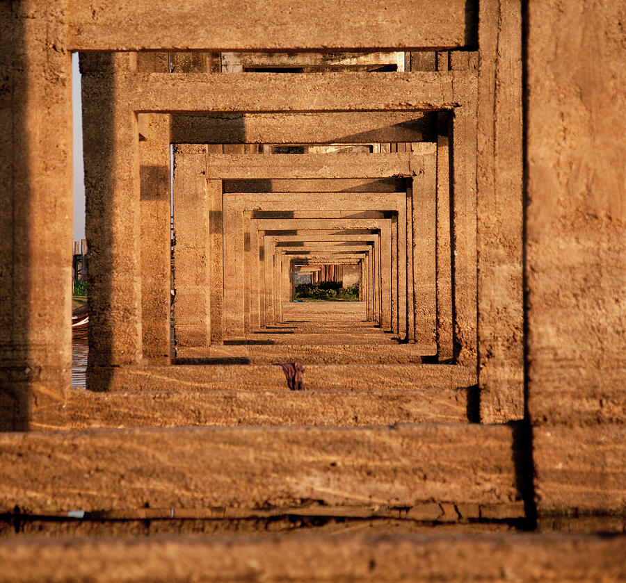U Bein Bridge, Mandalay, Myanmar Photograph by Ivanmateev