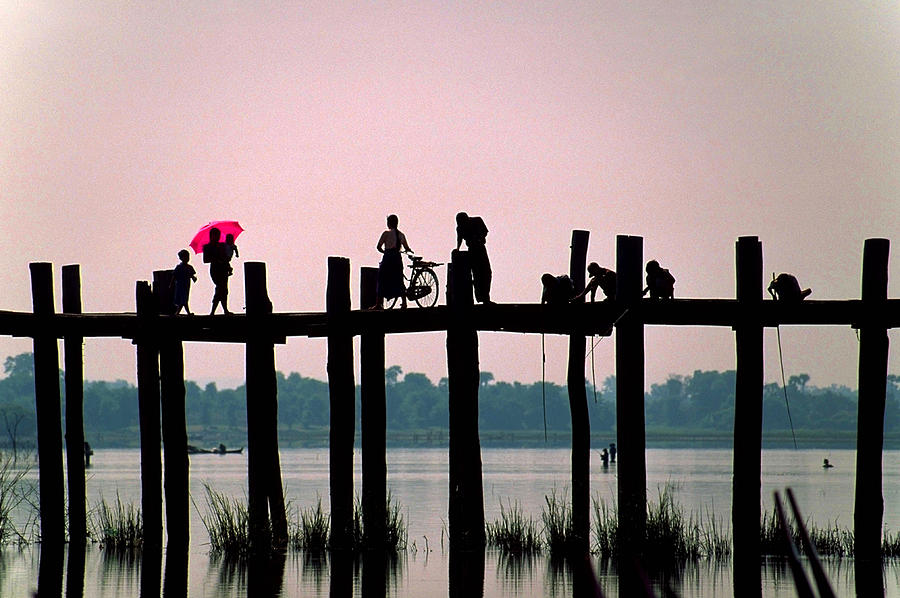 Mandalay Photograph - U Bien Bridge by Dennis Cox