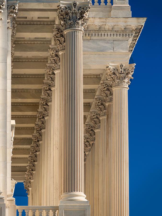 U. Photograph - U S Capitol Columns by Steve Gadomski