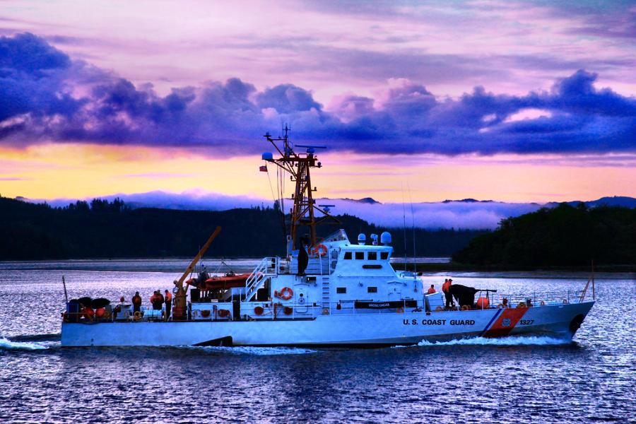 Coast Guard Photograph - U S Coast Guard Cutter by Sally Bauer