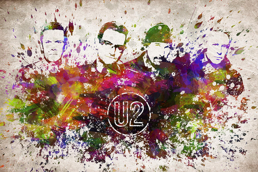 U2 In Color Digital Art
