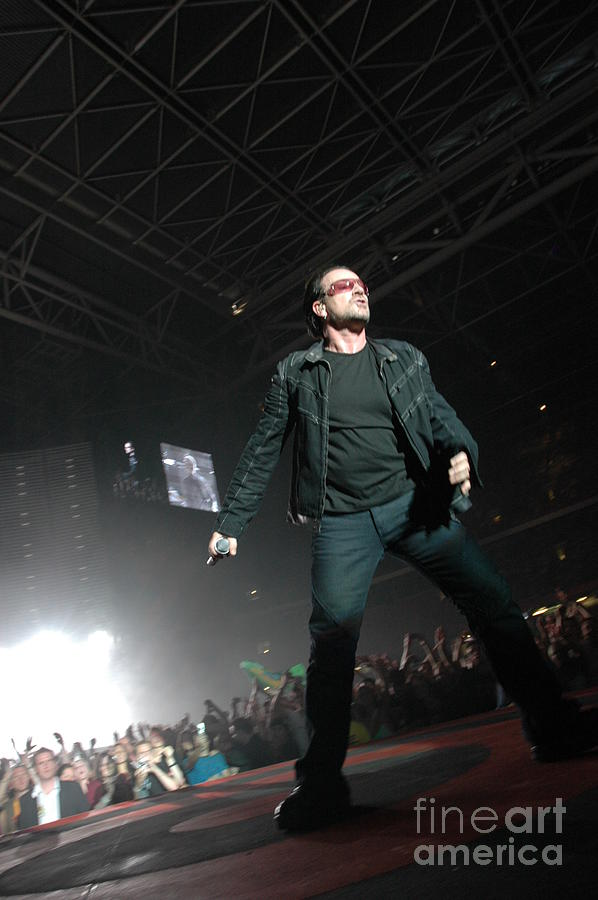 Bono Photograph - U2 by Jenny Potter
