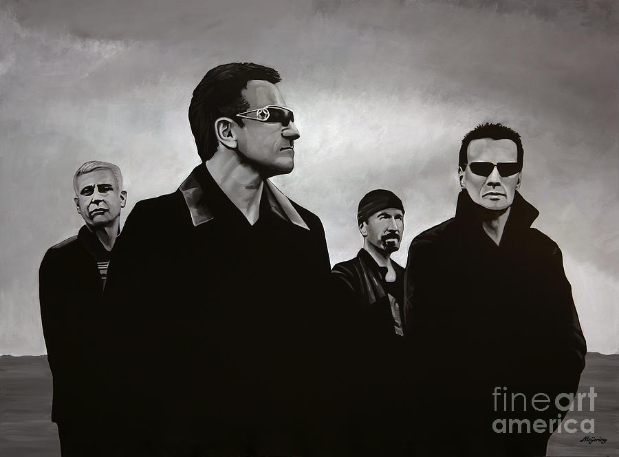 U2 Painting - U2 by Paul Meijering