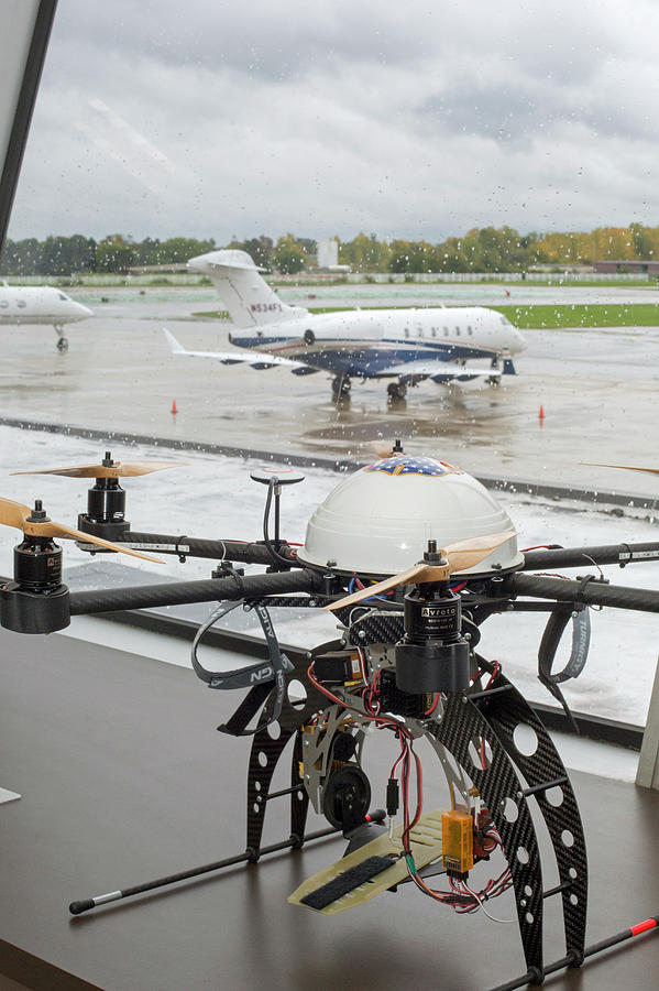 Machine Photograph - Uav Drone At An Airport by Jim West