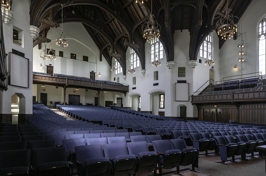 Memorial Auditorium Photograph - Uf University Auditorium Interior And Seating by Lynn Palmer