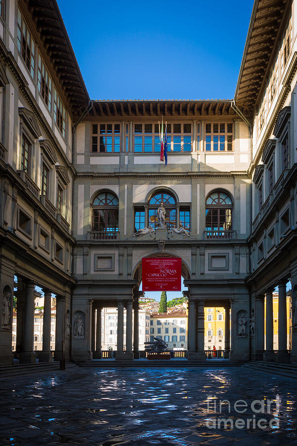 Europe Photograph - Uffizi by Inge Johnsson