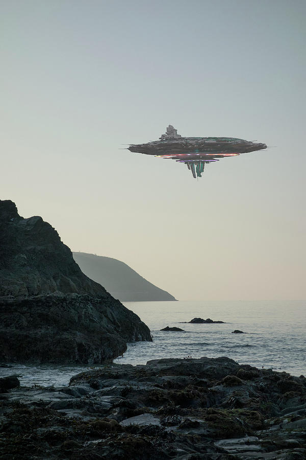 Ufo  Flying Saucer  Alien Spacecraft Photograph by Coneyl Jay