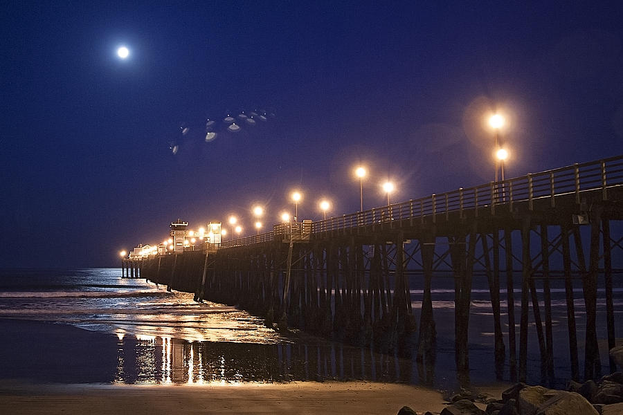 UFO's Over Oceanside Pier by Ann Patterson
