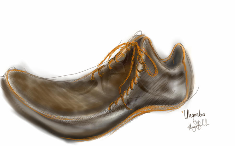 Shoe Digital Art - Uhambo1 by Khaya Bukula
