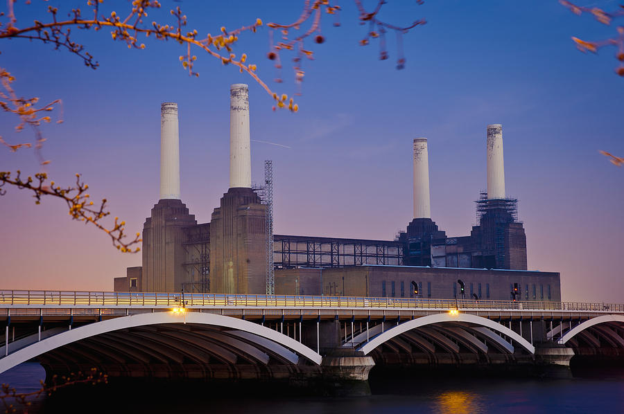 Outdoors Photograph - Uk, England, View Of Battersea Power by Dosfotos