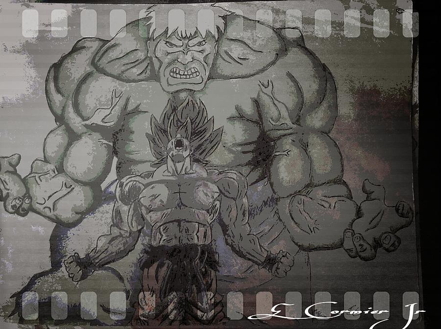 Superhero Digital Art - Ultimate Power by Edward Cormier Jr