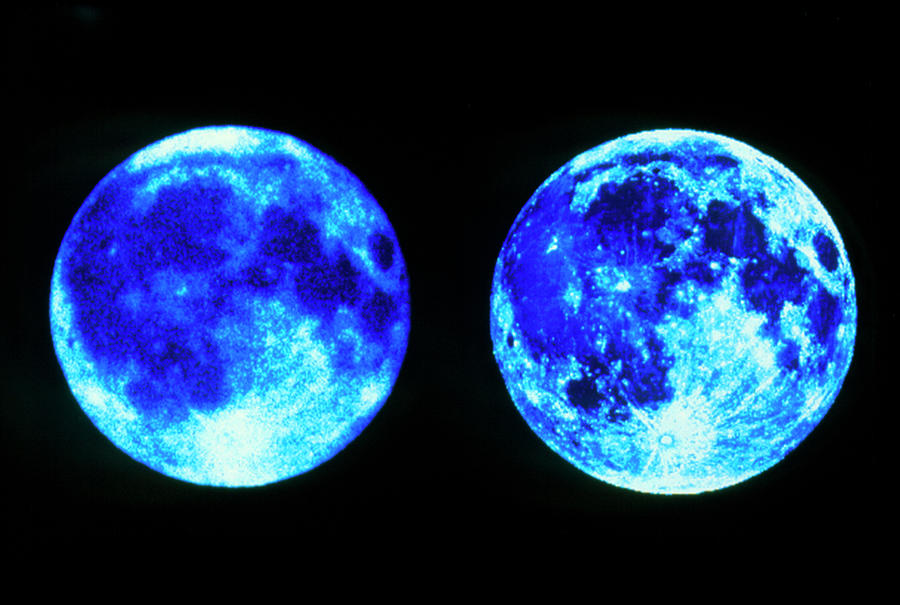 c439356e3f Moon Photograph - Ultraviolet And Visible Images Of The Moon by Uit Science  Team / Nasa