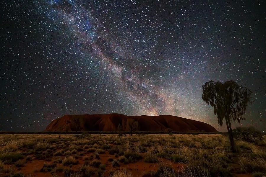 Uluru Ayers Rock At Night Photograph By Kartikeya Sharma
