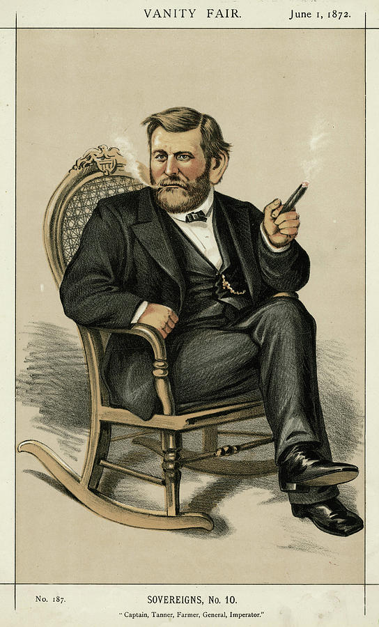 Ulysses Drawing - Ulysses Grant American Civil War by Mary Evans Picture Library