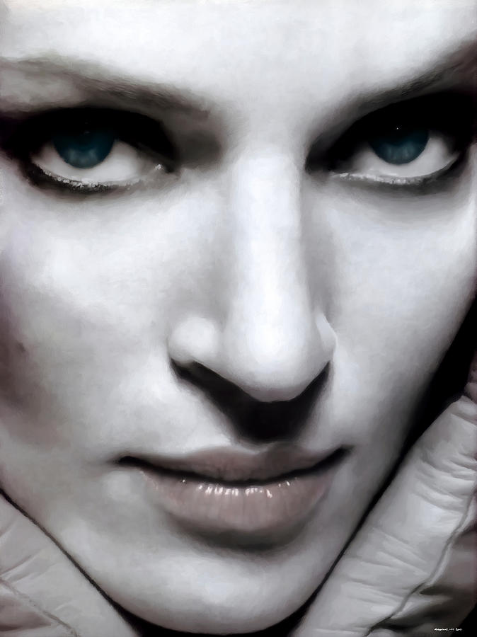 Actress Digital Art - Uma Thurman by Gabriel T Toro