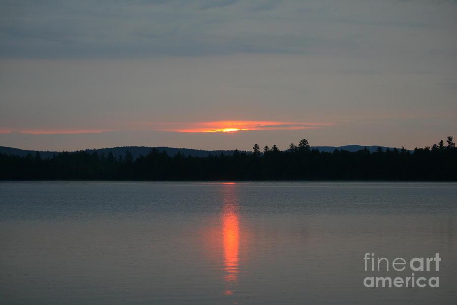 Sunset Photograph - Umbagog Reflections by Neal Eslinger