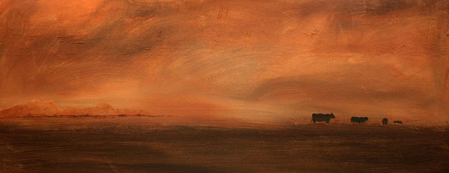 Acrylic Painting - Umber Series #3 by William Renzulli