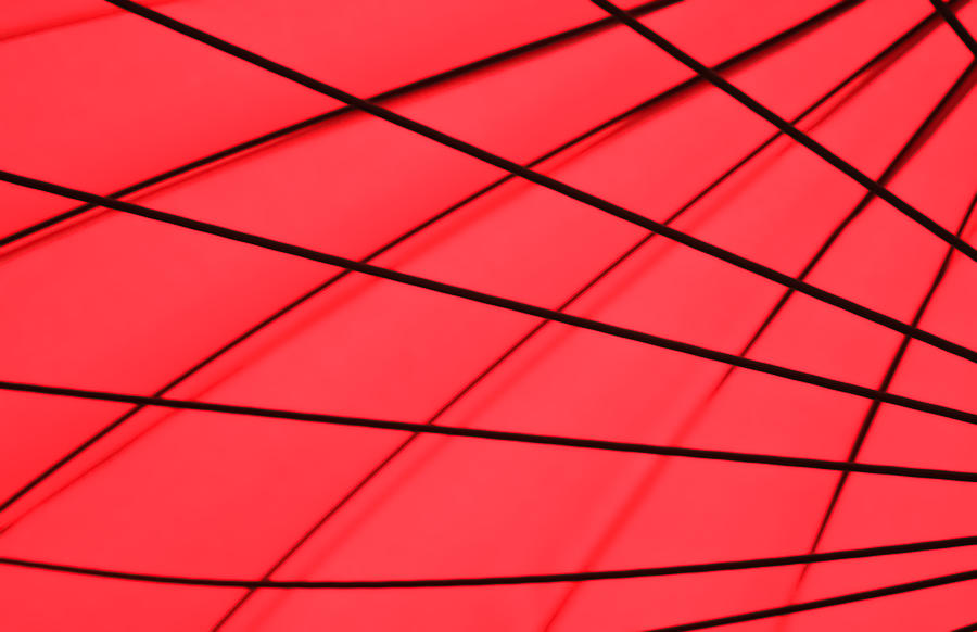 Geometrical Photograph - Red and Black Abstract by Tony Grider