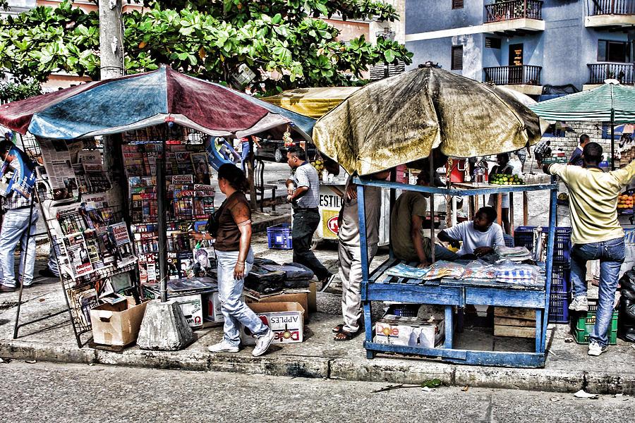 Travel Digital Art - Umbrella Market by Linda Phelps
