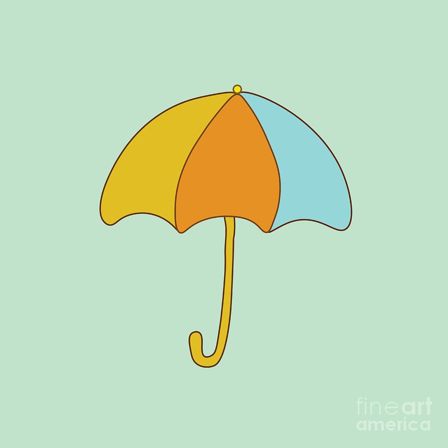 Drop Digital Art - Umbrella by Paduk
