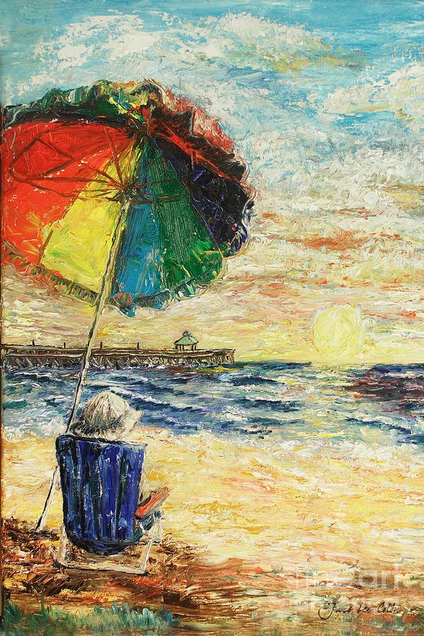 Umbrella Painting - Umbrella Sunrise by Janis Lee Colon