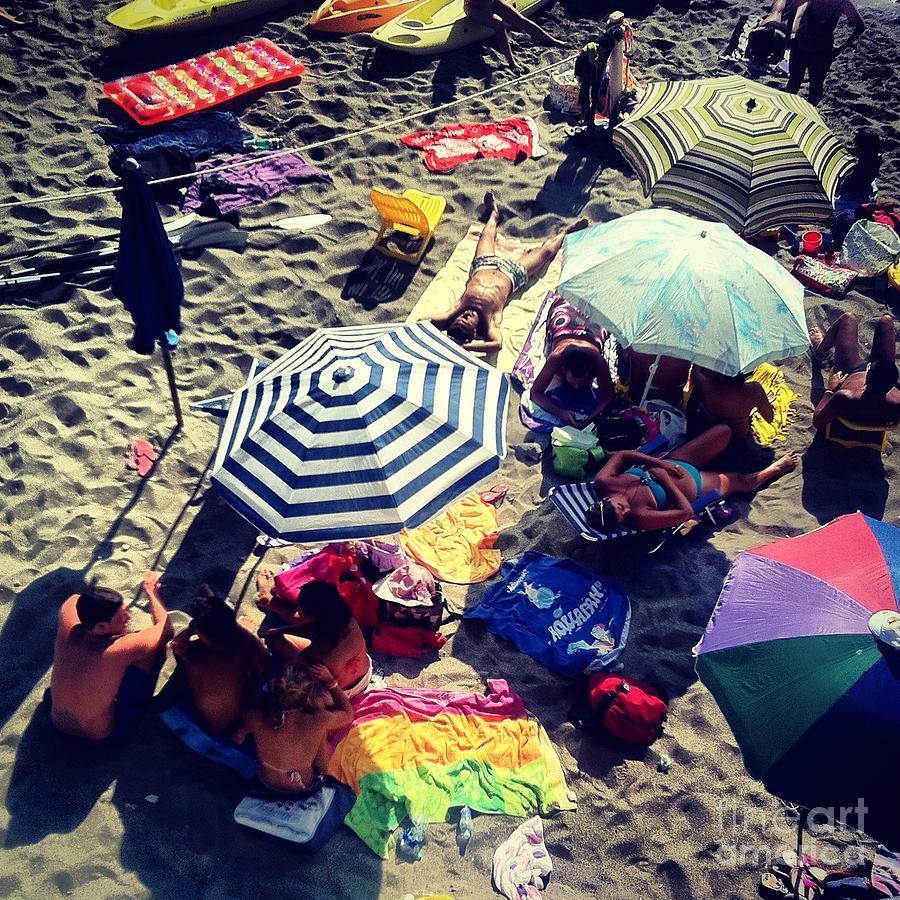 Beach Photograph - Umbrellas At The Beach by H Hoffman